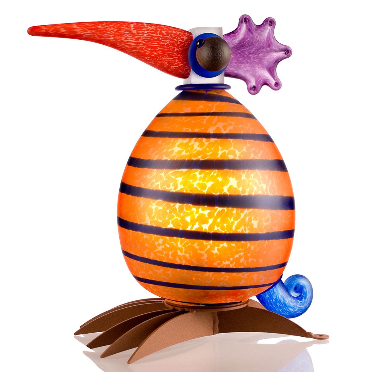 Fat Gonzo, orange mit blauen Streifen