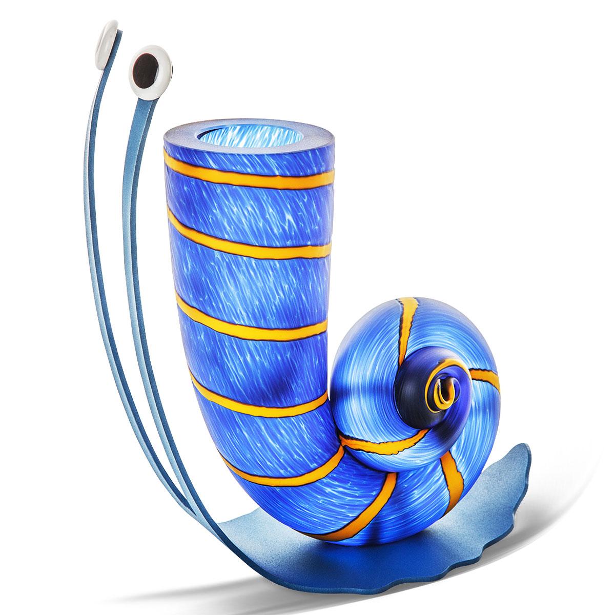 Slow Jack, Vase in blau
