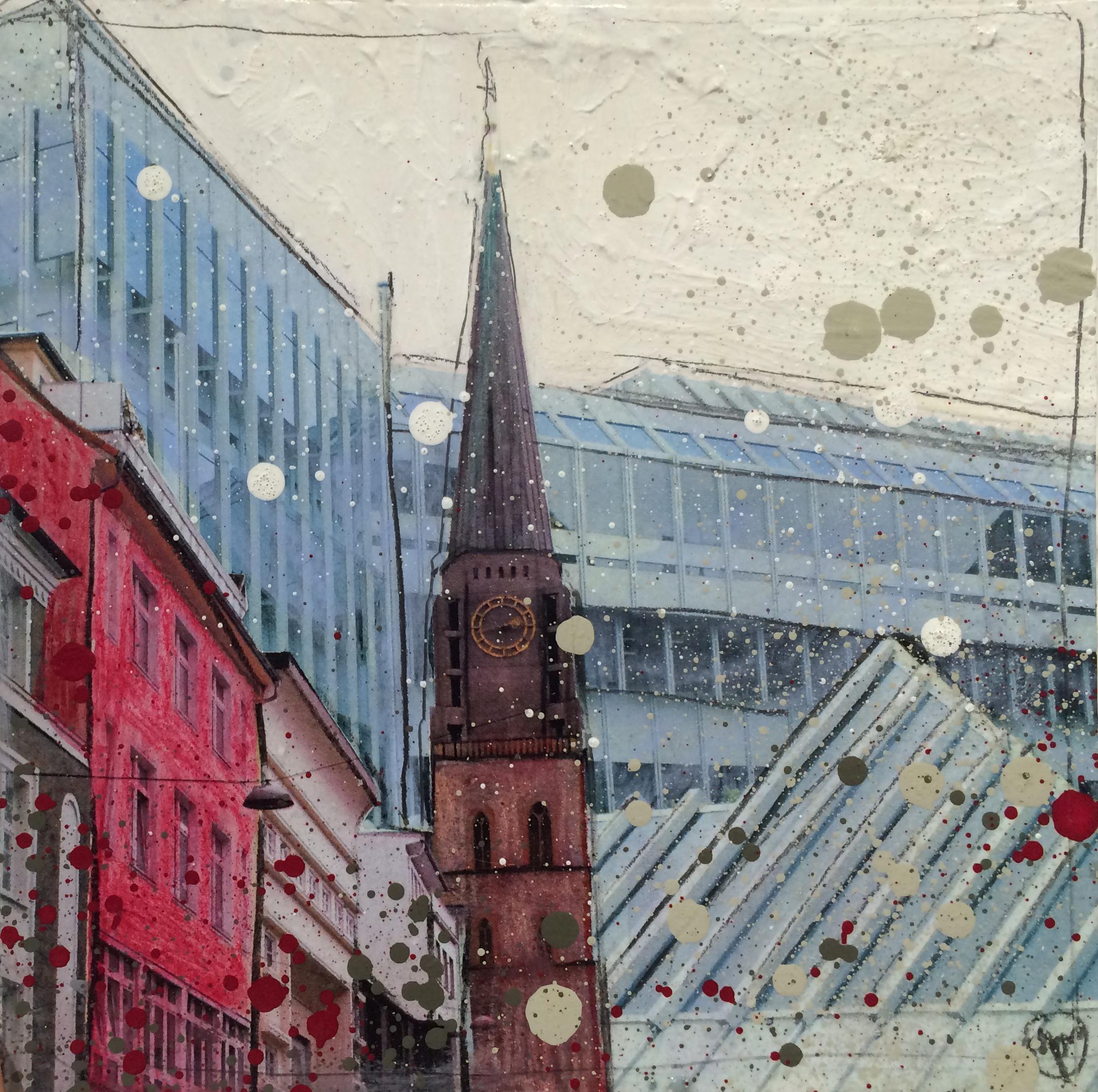 Nicolaikirche vor dem neuen Rathaus