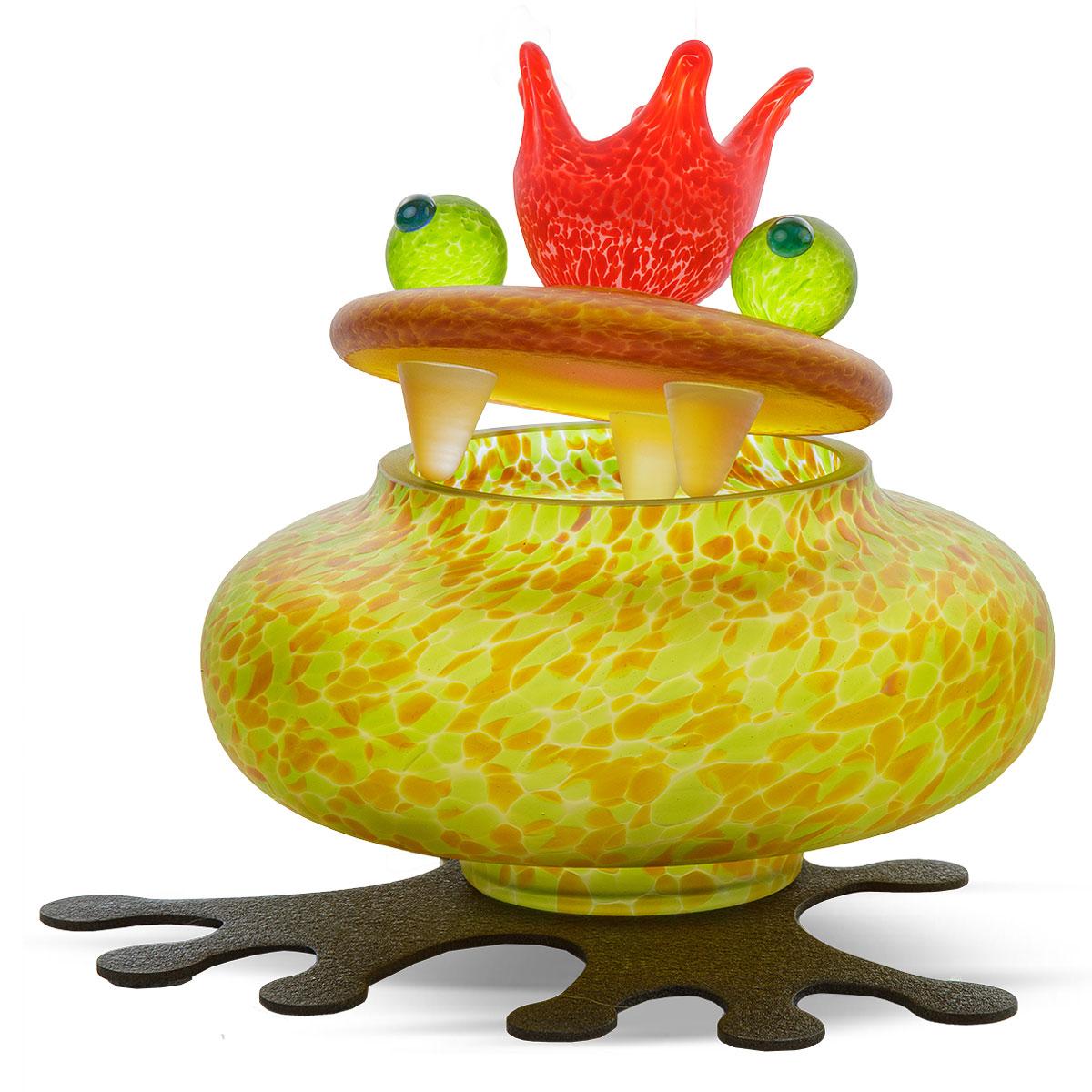 Boxy in Orange: Ein Frosch als Schmuckdose
