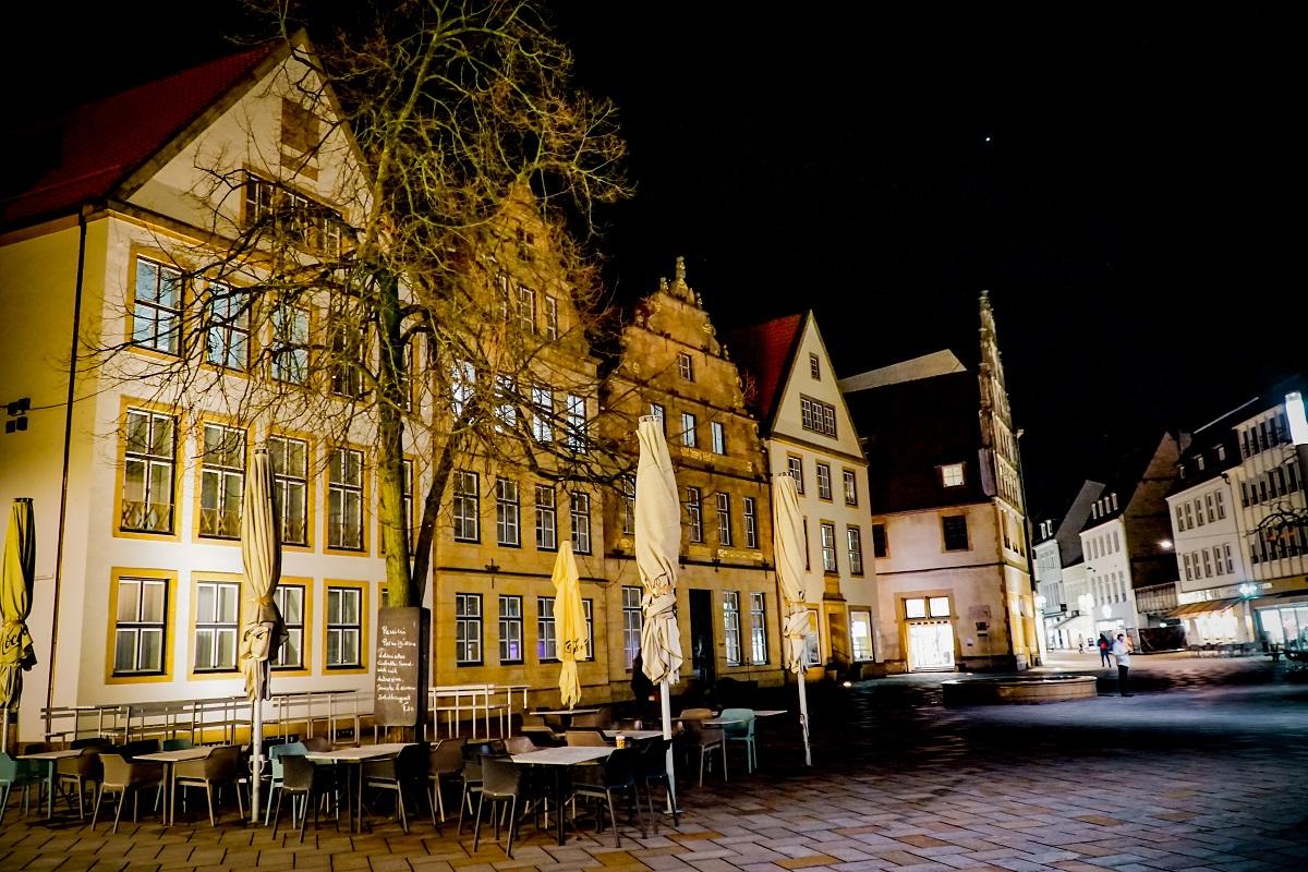 Bielefeld - Alter Markt bei Nacht
