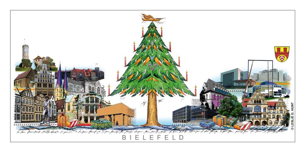 Bielefelder Weihnachtskarte von Leslie G. Hunt