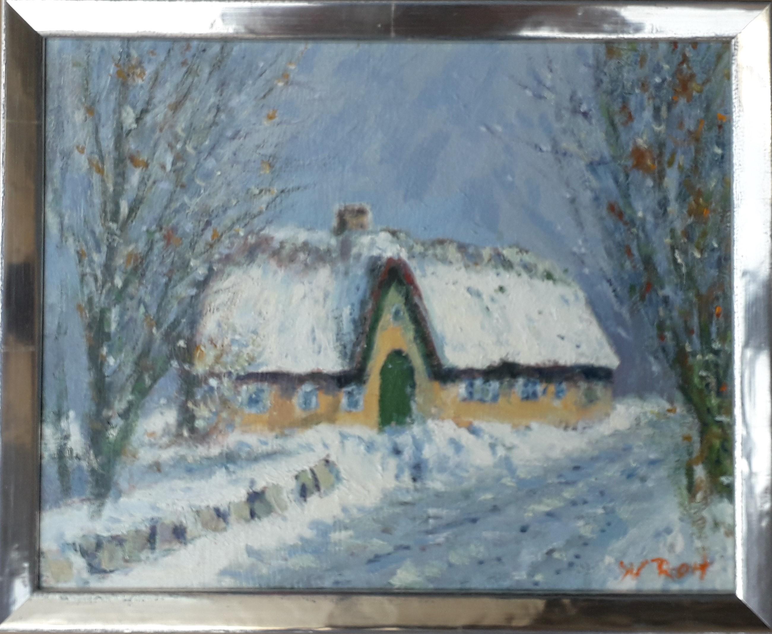 Sylter Friesenhaus im Winter