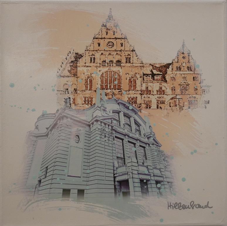Stadttheater und Rathaus
