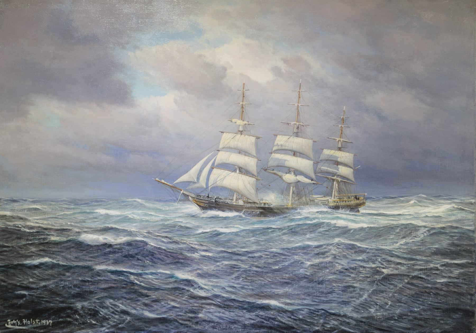 Dreimaster auf Hoher See