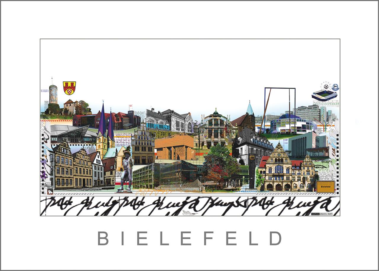 Cityprint Bielefeld von Leslie G. Hunt