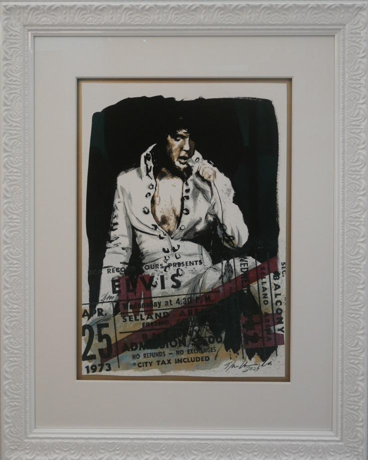 Elvis Presley mit Konzertkarten- Replica als Bonus