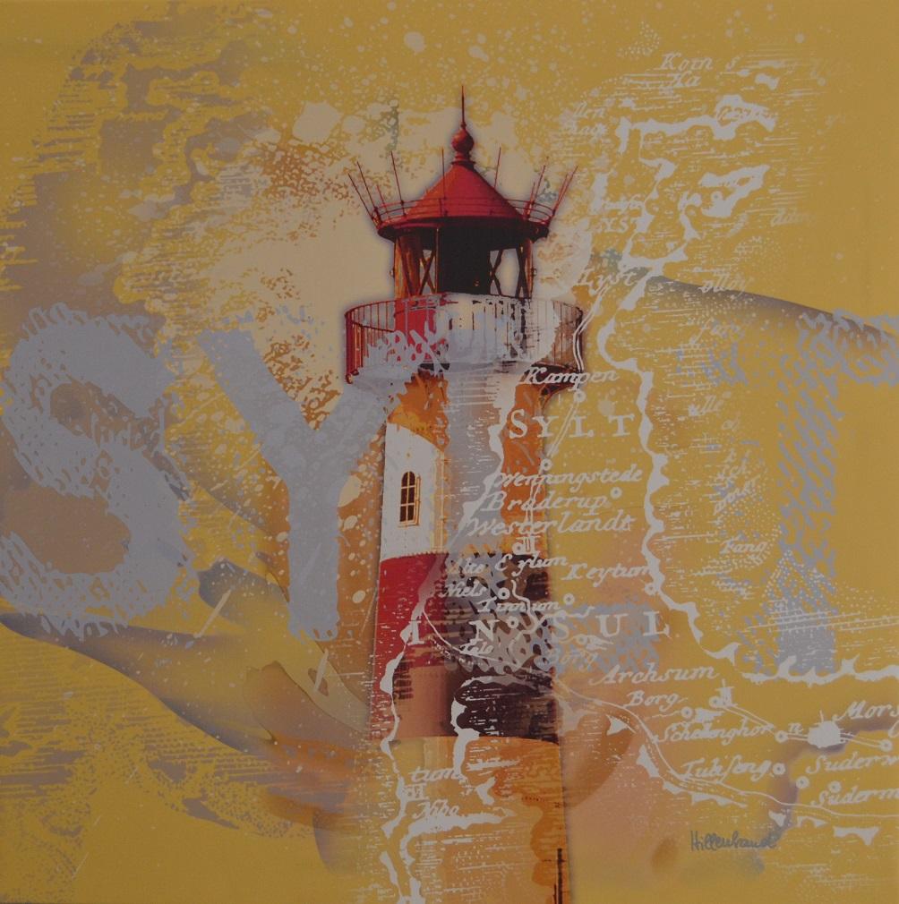 Leuchtturm List, sonnengelb
