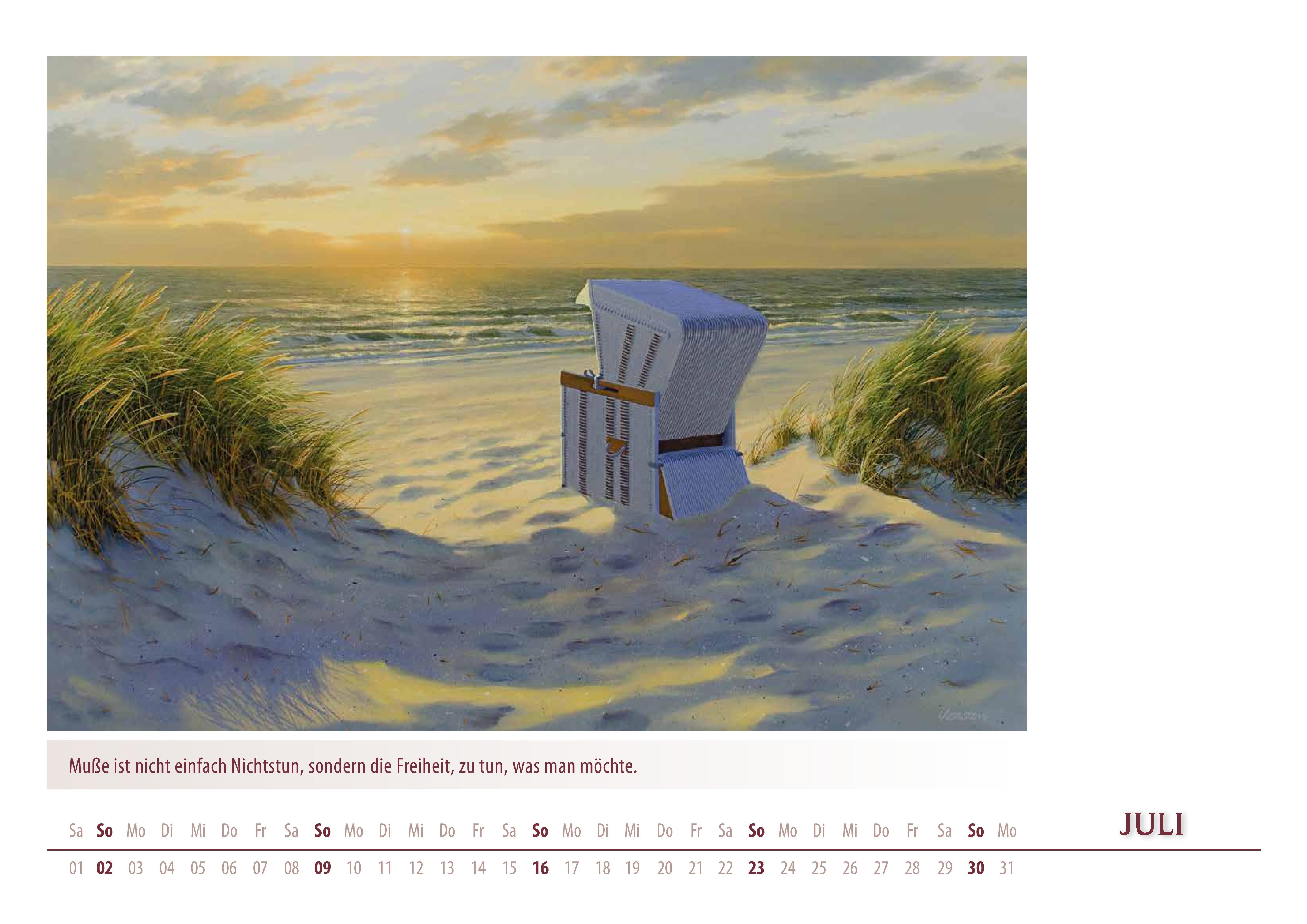 Kalender 2017 von Karsten Meiwald - Meerblicke