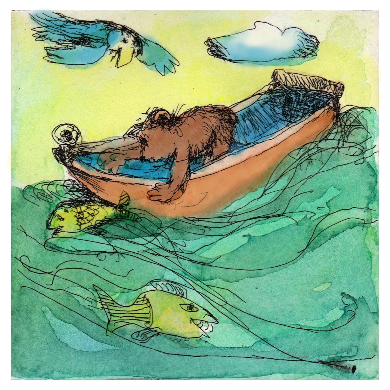 Mit großen Tatzen fängt man Fische