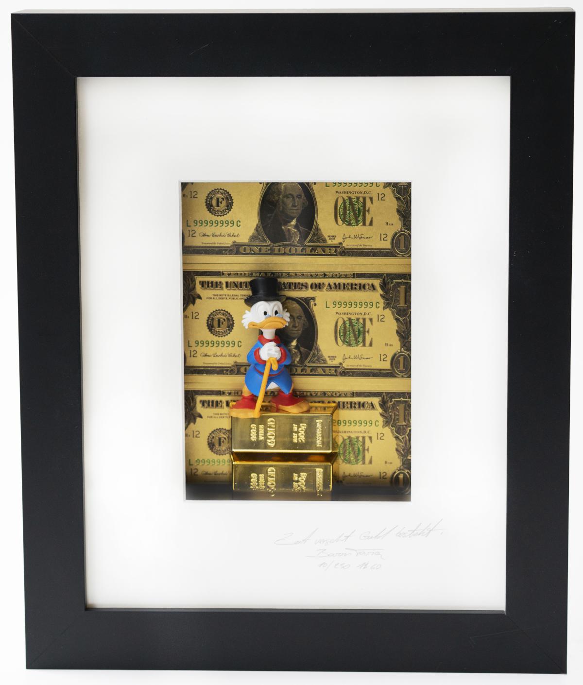Zeit vergeht, Gold besteht - One $ - by Baron Tariq