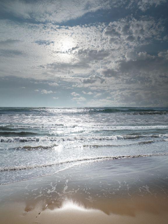 Shimmering Sylt sea