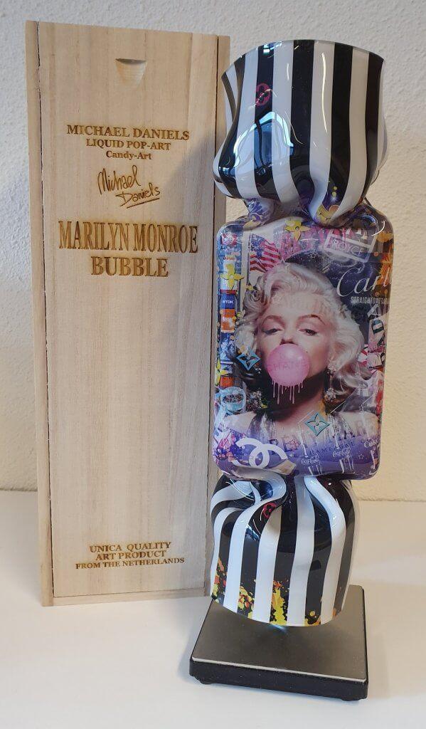 Art Candy - Marilyn Monroe Bubbles black stripes