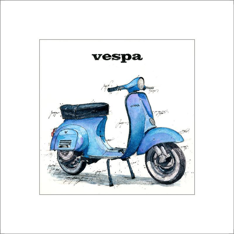 Vespa blau