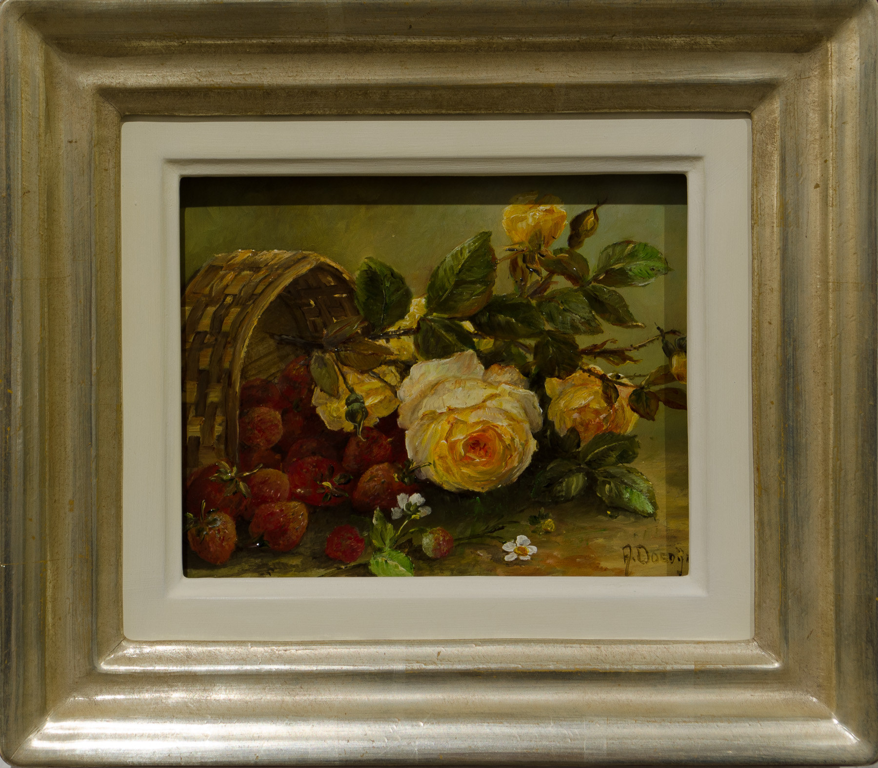 Rosen und Erdbeeren, 18x13