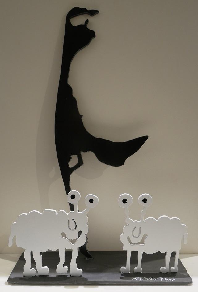 Monsterschafe grüßen von Sylt, weiß & weiß