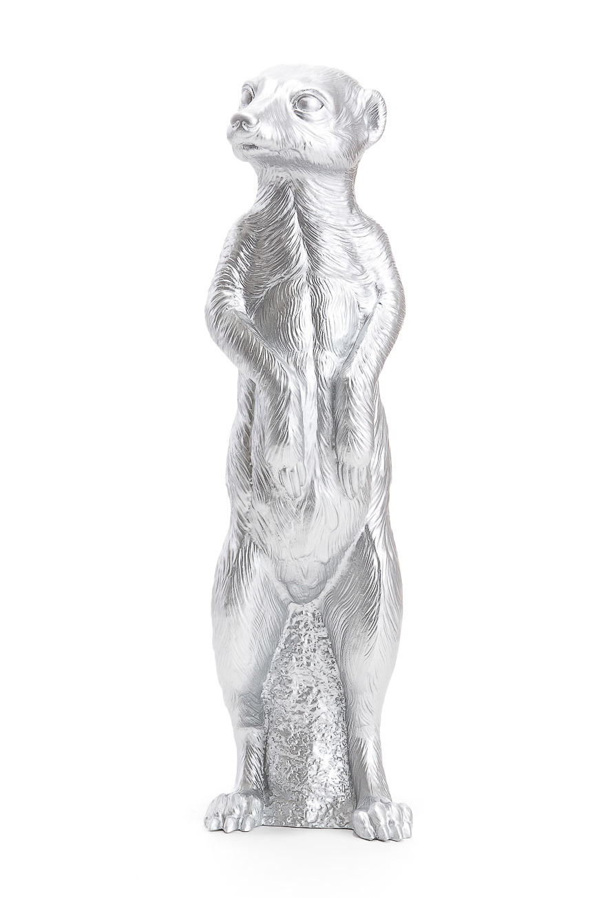 Erdmännchen in silber