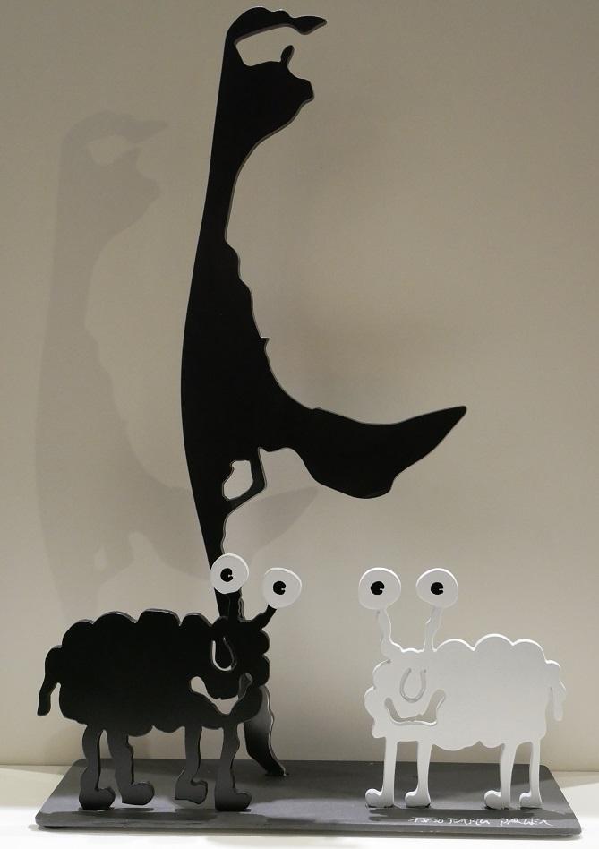 Monsterschafe grüßen von Sylt, weiß & schwarz