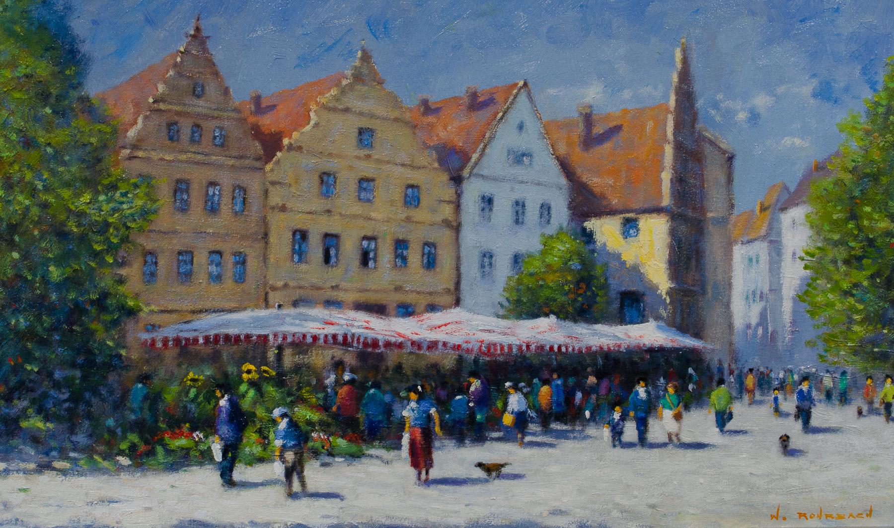 Wochenmarkt auf dem Alten Markt in Bielefeld
