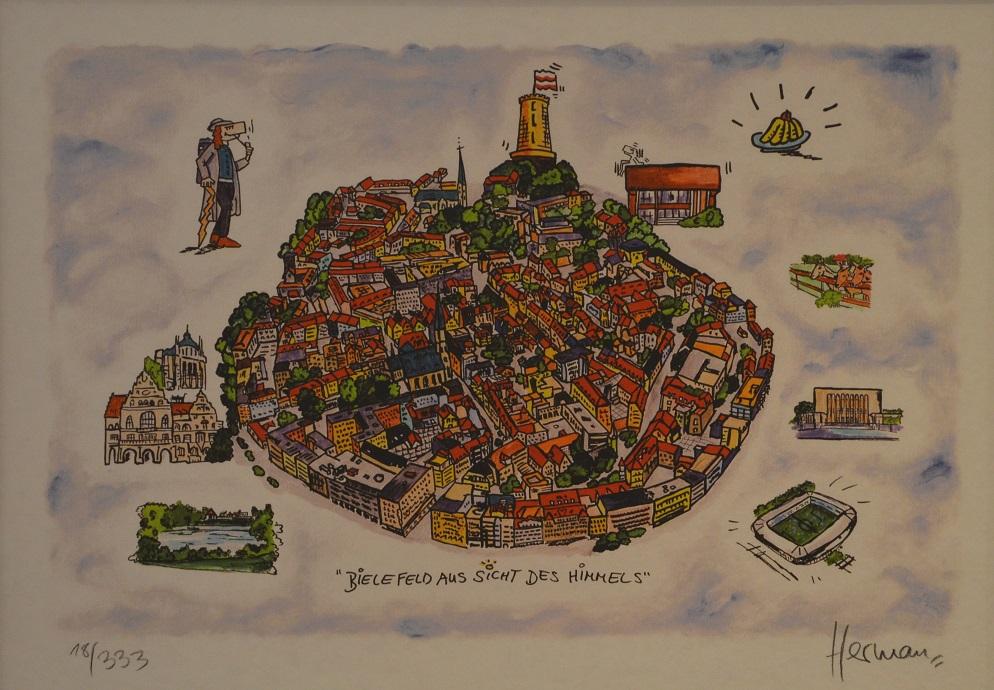 Bielefeld aus der Sicht des Himmels