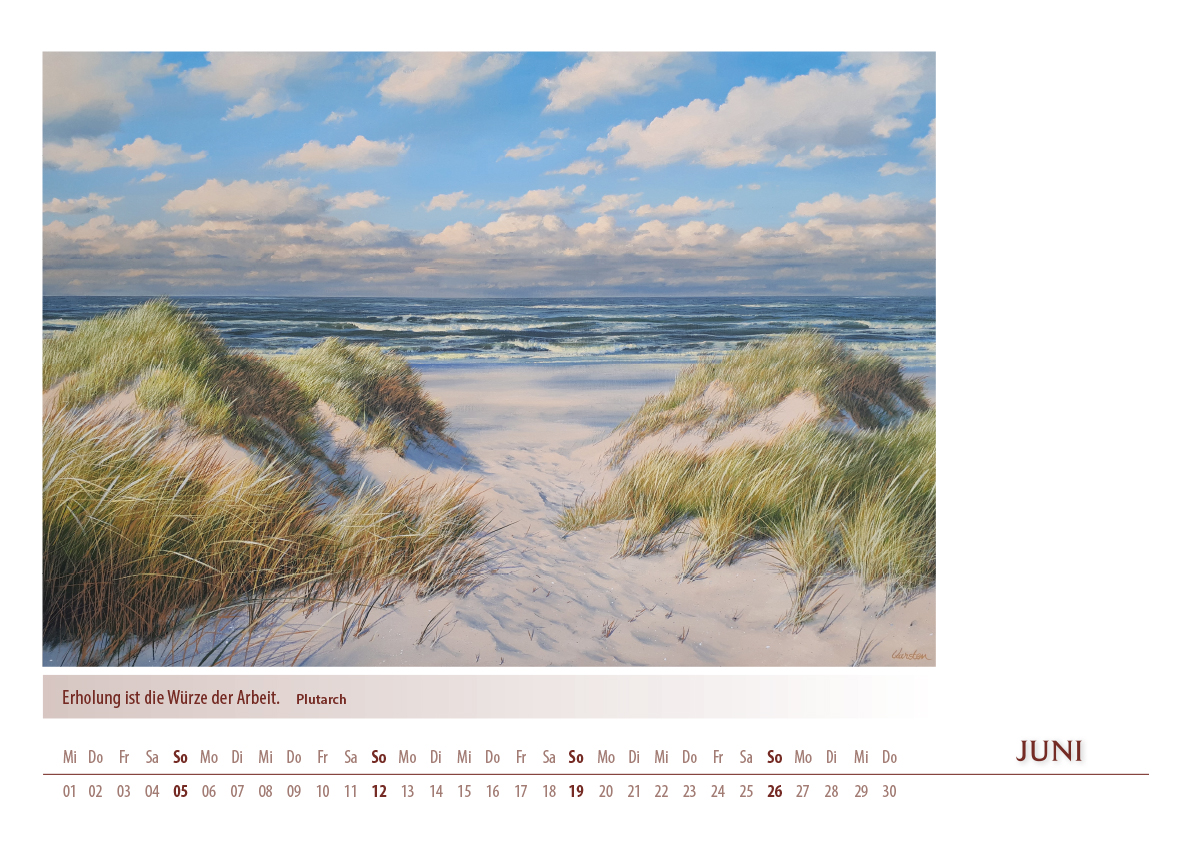 Kalender 2022 von Karsten Meiwald - Meerblicke