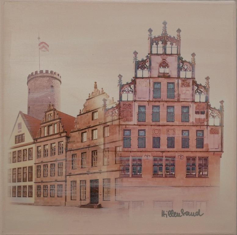 Bielefeld in zartem Rosé