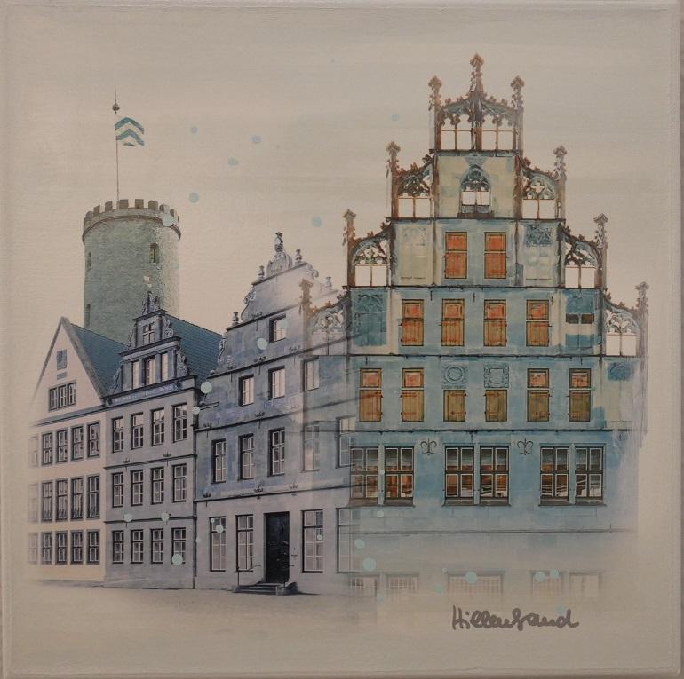 Bielefeld in zartem Blau