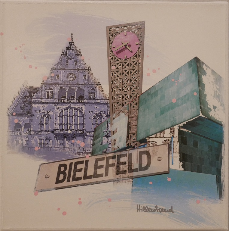 Bielefeld in Blautönen
